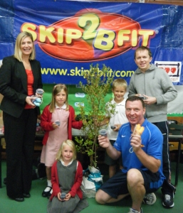 Skip2Bfit skipping workshops offers free blueberry plants