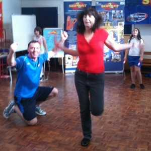 Lesley Griffiths AM tries the Skip2Bfit Challenge