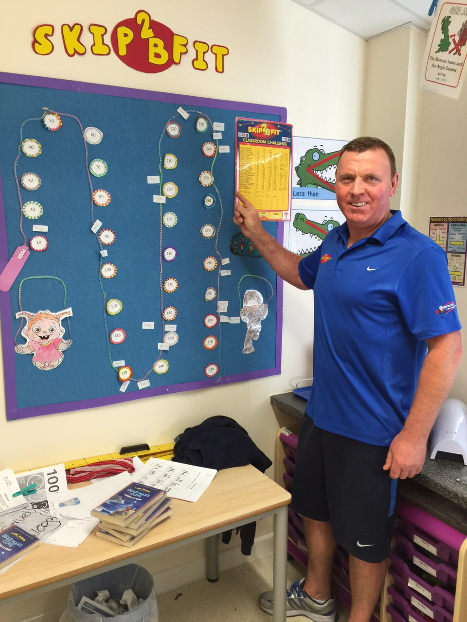 John shows a fantastic Skip2Bfit classroom display
